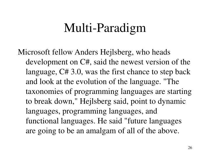 Multi-Paradigm