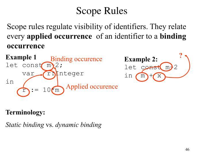 Scope Rules