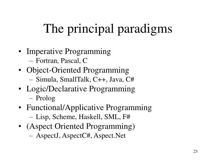 The principal paradigms