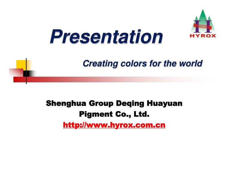p resentation creating colors for the world