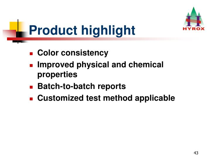 Product highlight