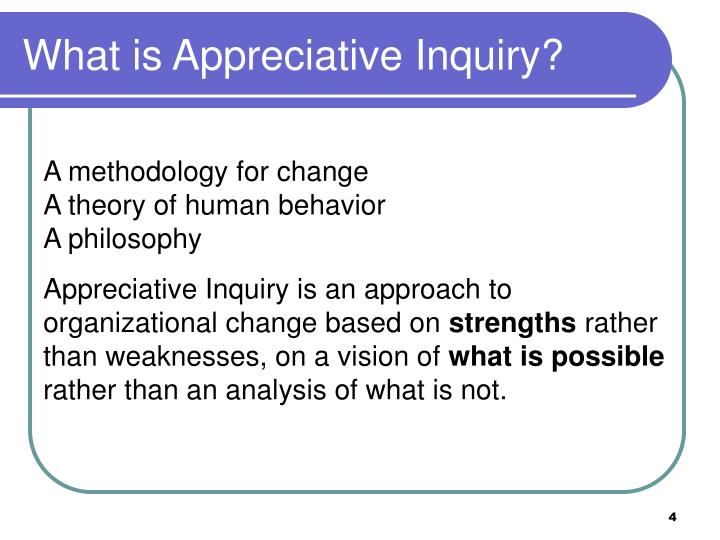 What is Appreciative Inquiry?