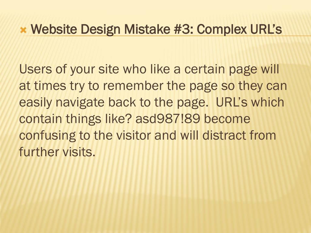 Website Design Mistake #3: Complex URL's