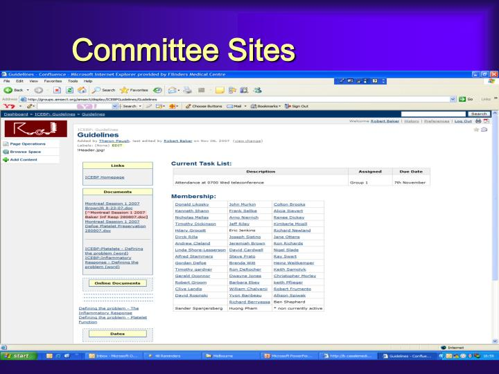 Committee Sites