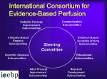 international consortium for evidence based perfusion