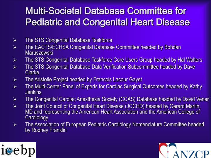 Multi-Societal Database Committee for