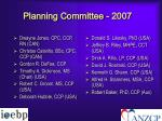 planning committee 2007