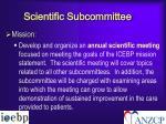 scientific subcommittee1