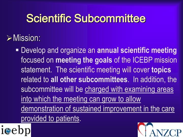 Scientific Subcommittee