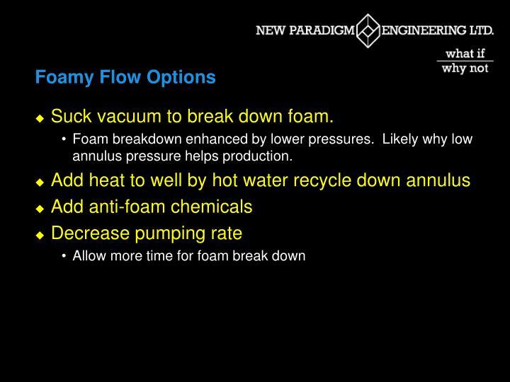 Foamy Flow Options