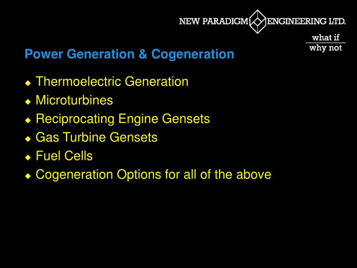 Power Generation & Cogeneration