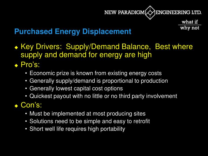 Purchased Energy Displacement