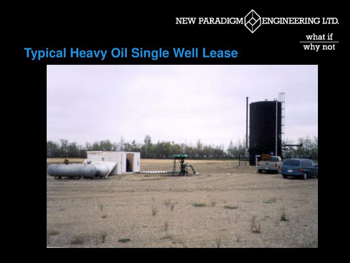 Typical Heavy Oil Single Well Lease