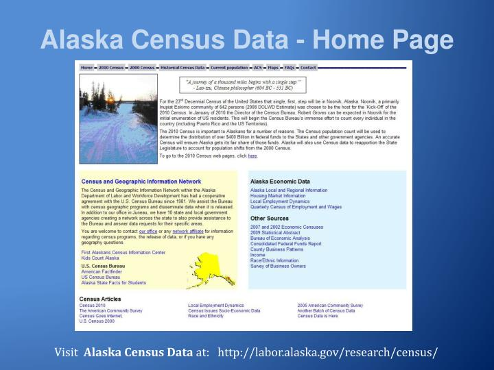 Alaska Census Data - Home Page