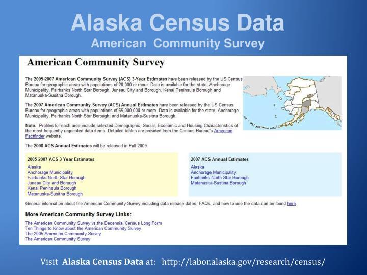 Alaska Census Data