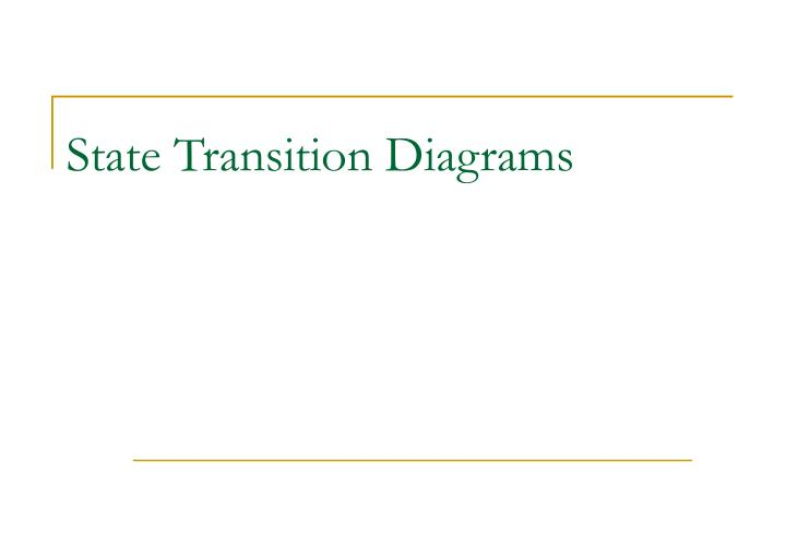 state transition diagrams