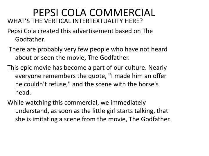 PEPSI COLA COMMERCIAL