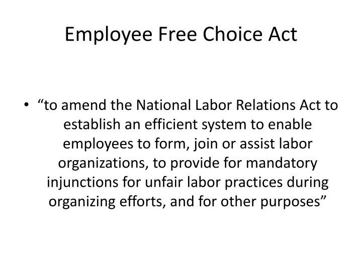 Employee Free Choice Act