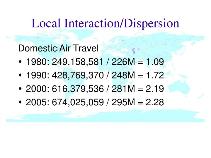 Local Interaction/Dispersion