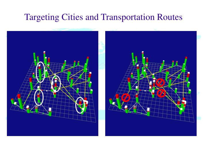 Targeting Cities and Transportation Routes