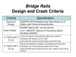 bridge rails design and crash criteria