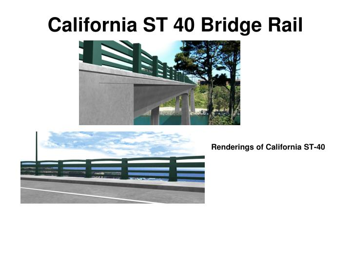 California ST 40 Bridge Rail