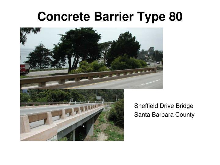 Concrete Barrier Type 80