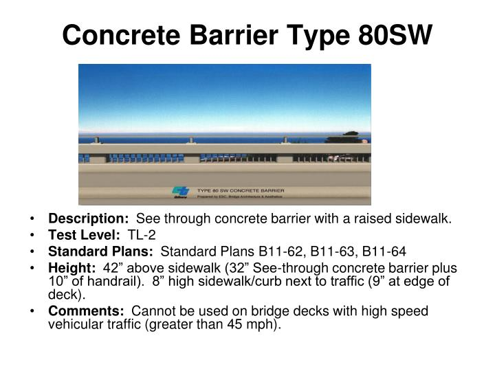 Concrete Barrier Type 80SW