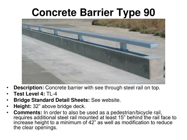 Concrete Barrier Type 90