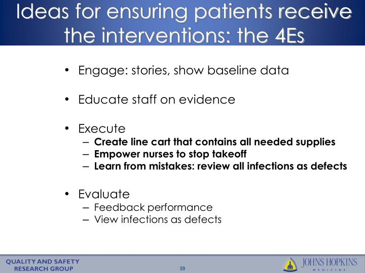 Ideas for ensuring patients receive
