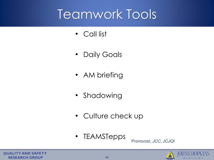 Teamwork Tools