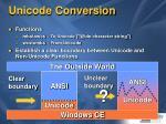 unicode conversion