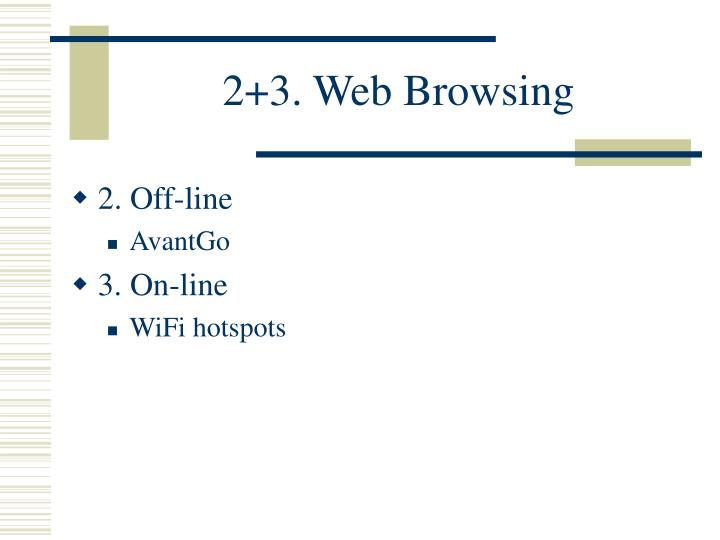 2 3 web browsing