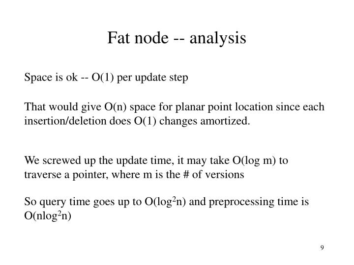 Fat node -- analysis