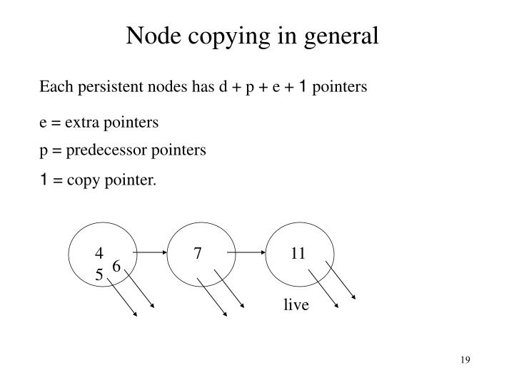Node copying in general