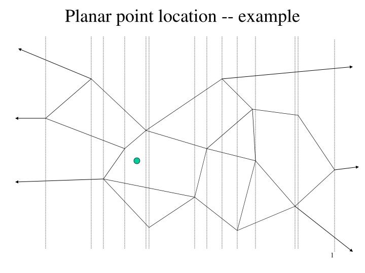 Planar point location example