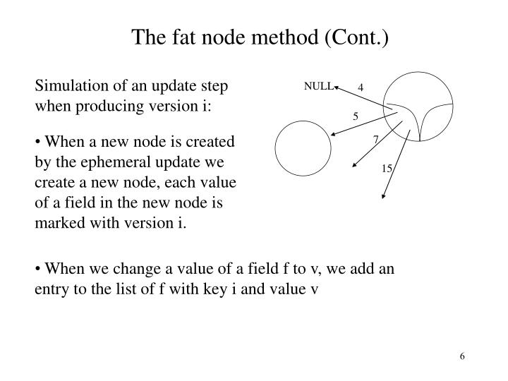 The fat node method (Cont.)
