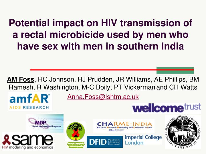 Potential impact on HIV transmission of a rectal microbicide used by men who have sex with men in southern India