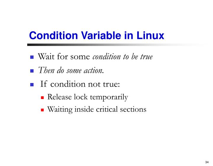 Condition Variable in Linux