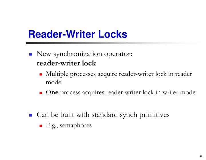 Reader-Writer Locks