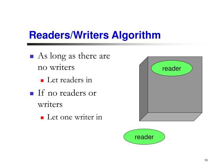 Readers/Writers Algorithm