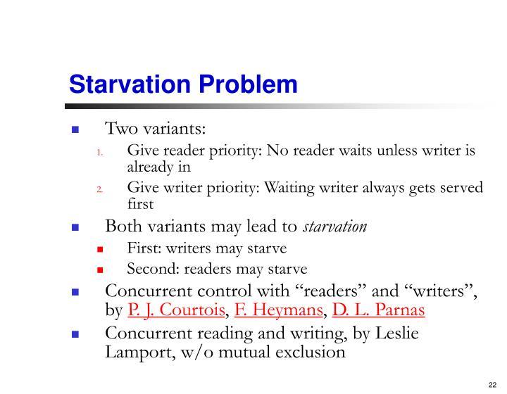 Starvation Problem