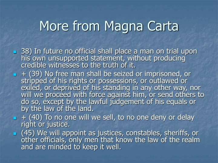 More from Magna Carta