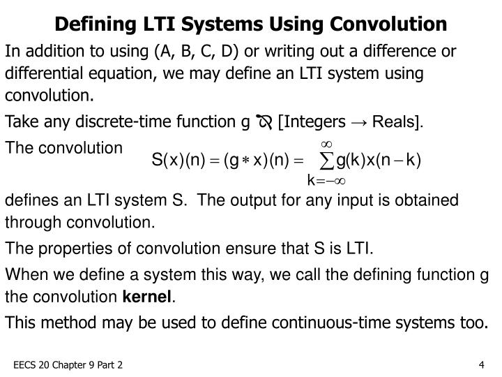Defining LTI Systems Using Convolution