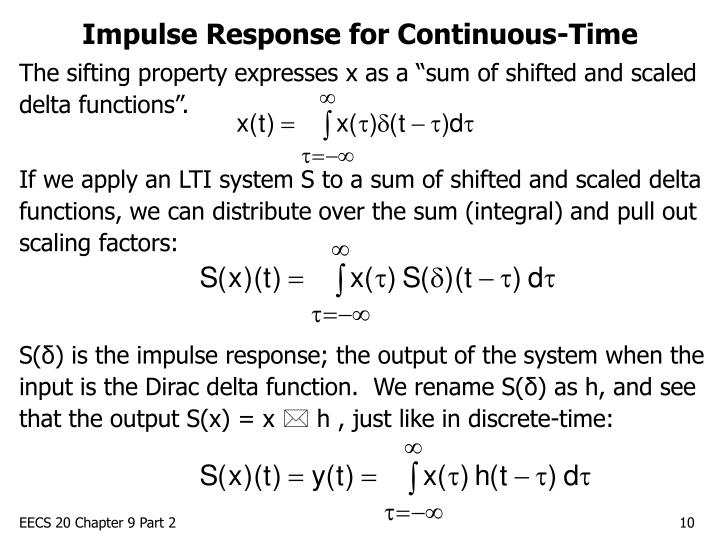 Impulse Response for Continuous-Time