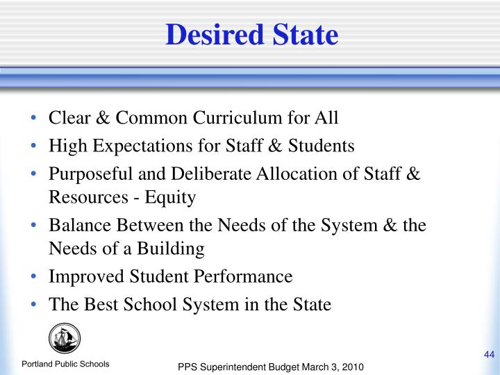 Desired State
