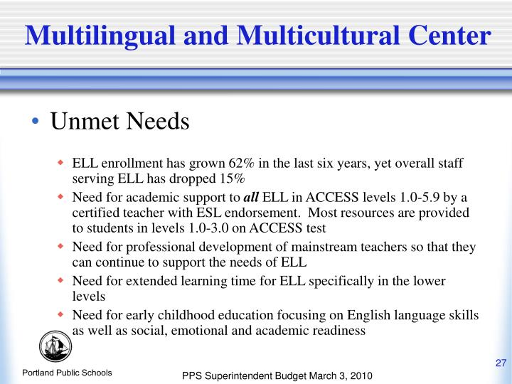 Multilingual and Multicultural Center