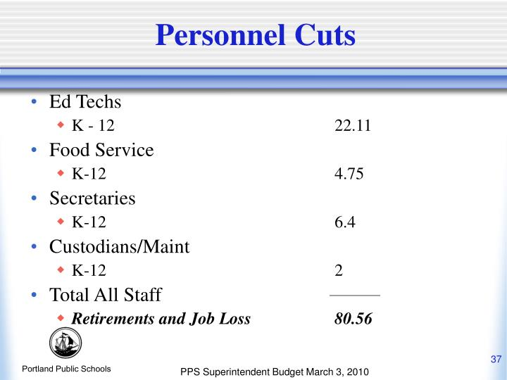 Personnel Cuts