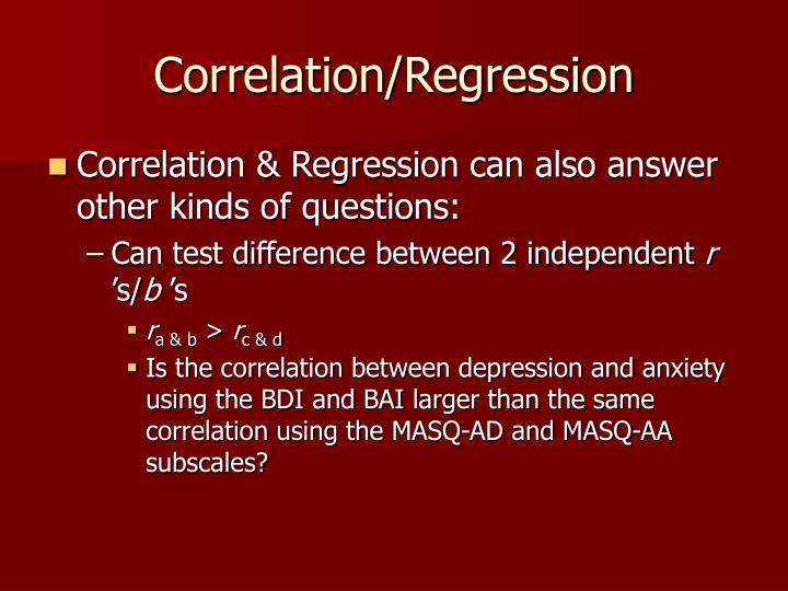 Correlation/Regression