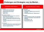 challenges and strategies vary by market